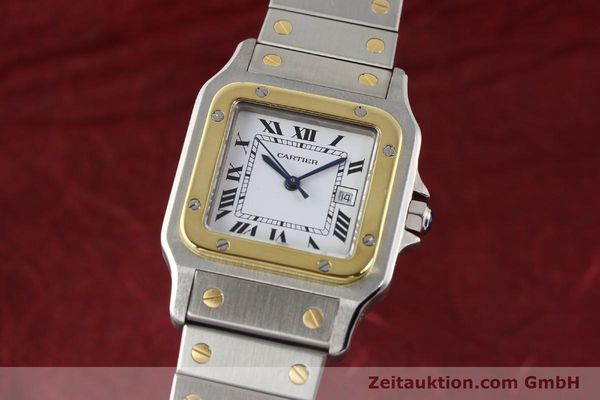 Used luxury watch Cartier Santos steel / gold automatic  | 140571 04