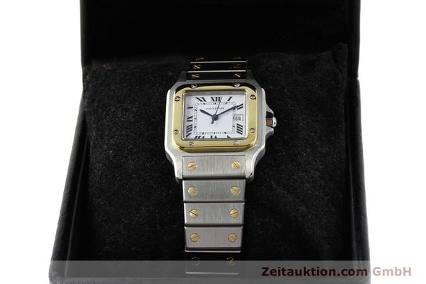 Used luxury watch Cartier Santos steel / gold automatic  | 140571 07