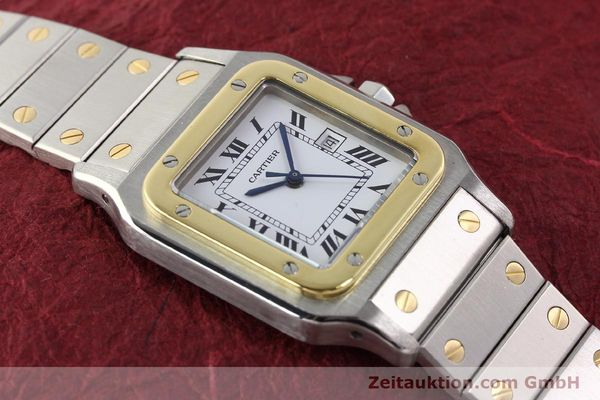 Used luxury watch Cartier Santos steel / gold automatic  | 140571 13