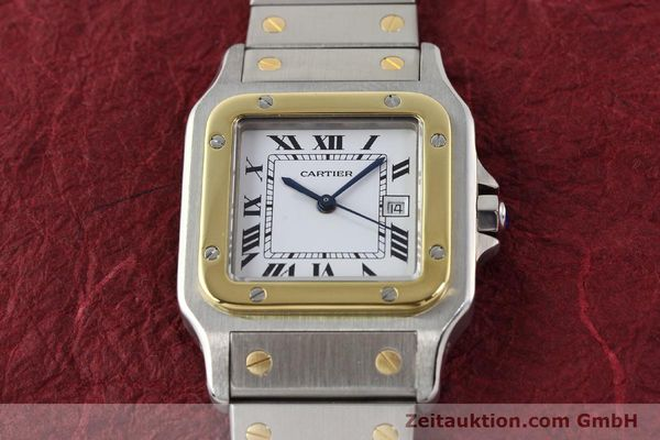 Used luxury watch Cartier Santos steel / gold automatic  | 140571 14