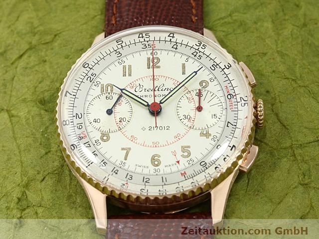Used luxury watch Breitling Chronomat 18 ct gold manual winding Kal. 217012 Ref. 671671  | 140575 13