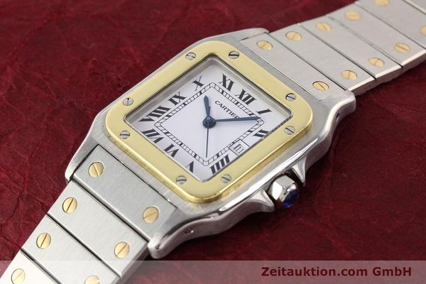 Used luxury watch Cartier Santos steel / gold automatic  | 140578 01