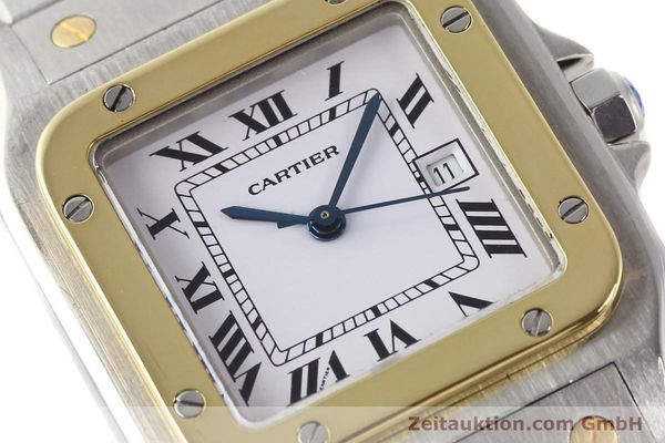Used luxury watch Cartier Santos steel / gold automatic  | 140578 02