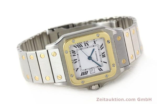 Used luxury watch Cartier Santos steel / gold automatic  | 140578 03