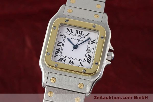 Used luxury watch Cartier Santos steel / gold automatic  | 140578 04