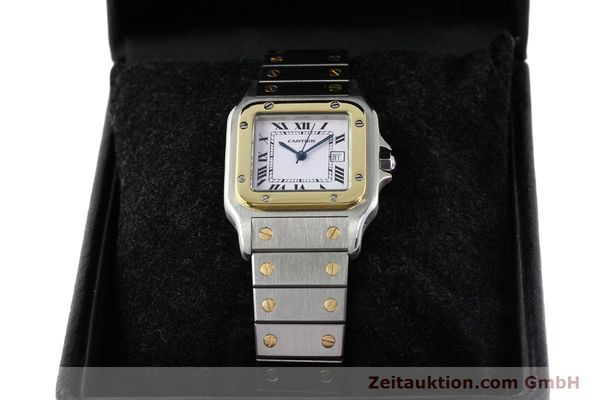 Used luxury watch Cartier Santos steel / gold automatic  | 140578 07