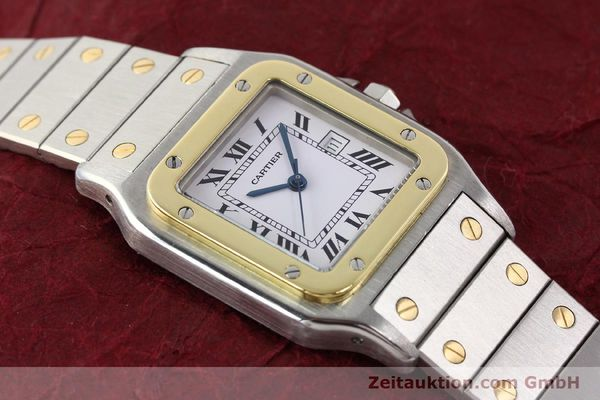 Used luxury watch Cartier Santos steel / gold automatic  | 140578 15