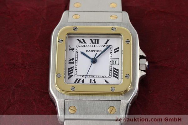 Used luxury watch Cartier Santos steel / gold automatic  | 140578 16
