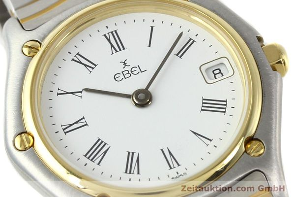 Used luxury watch Ebel Classic Wave steel / gold quartz Ref. 184908  | 140579 02
