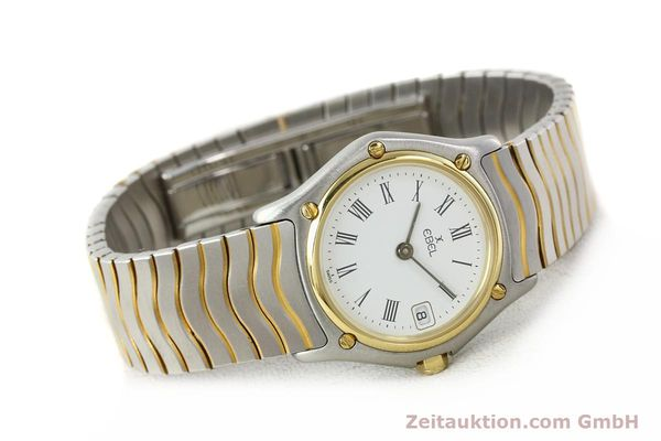 Used luxury watch Ebel Classic Wave steel / gold quartz Ref. 184908  | 140579 03