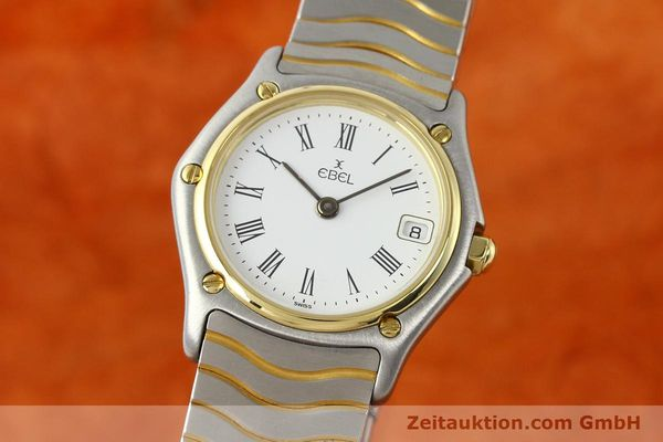 Used luxury watch Ebel Classic Wave steel / gold quartz Ref. 184908  | 140579 04