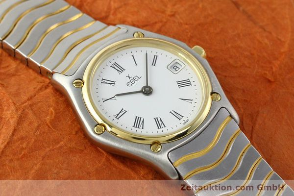 Used luxury watch Ebel Classic Wave steel / gold quartz Ref. 184908  | 140579 12