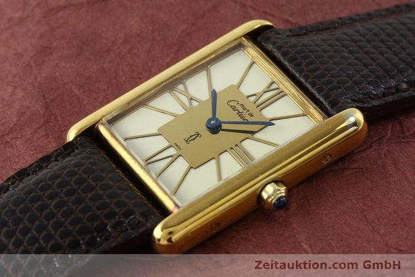 Used luxury watch Cartier Tank silver-gilt quartz  | 140633 01
