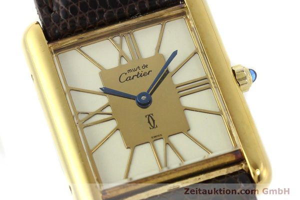 Used luxury watch Cartier Tank silver-gilt quartz  | 140633 02