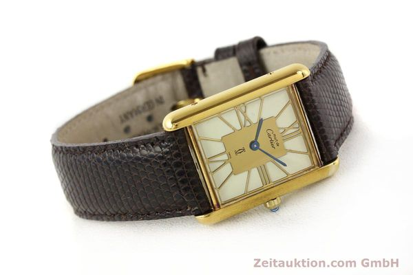 Used luxury watch Cartier Tank silver-gilt quartz  | 140633 03