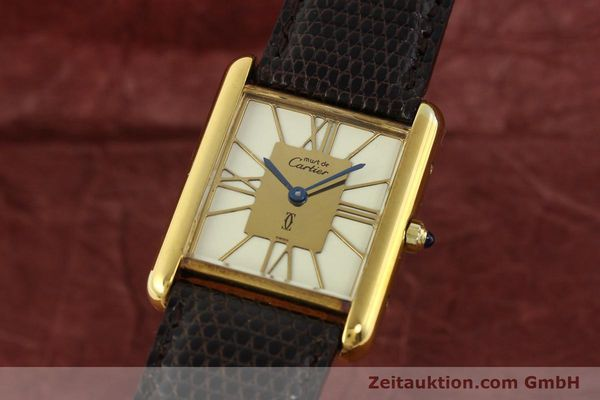 Used luxury watch Cartier Tank silver-gilt quartz  | 140633 04