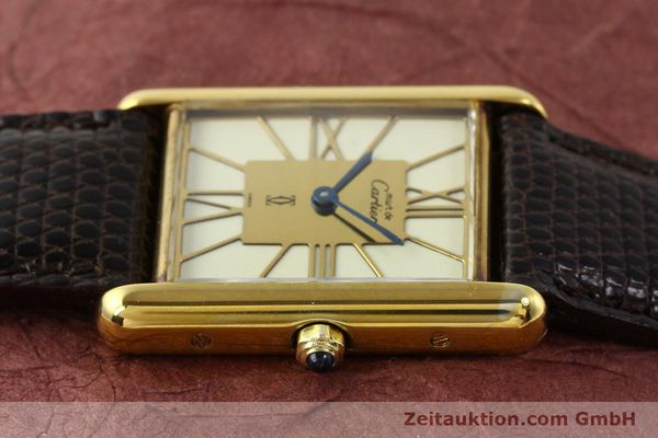 Used luxury watch Cartier Tank silver-gilt quartz  | 140633 05