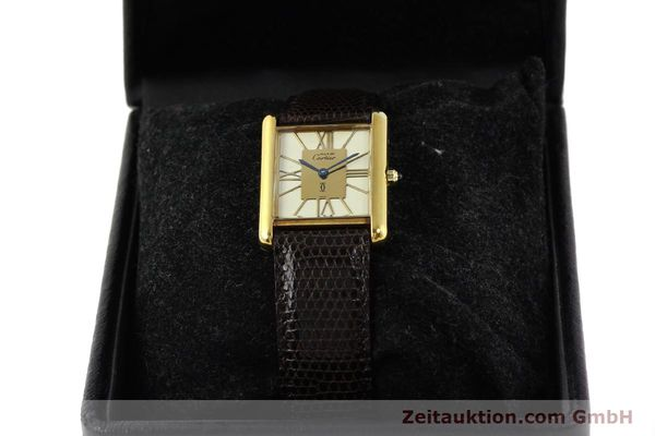 Used luxury watch Cartier Tank silver-gilt quartz  | 140633 07