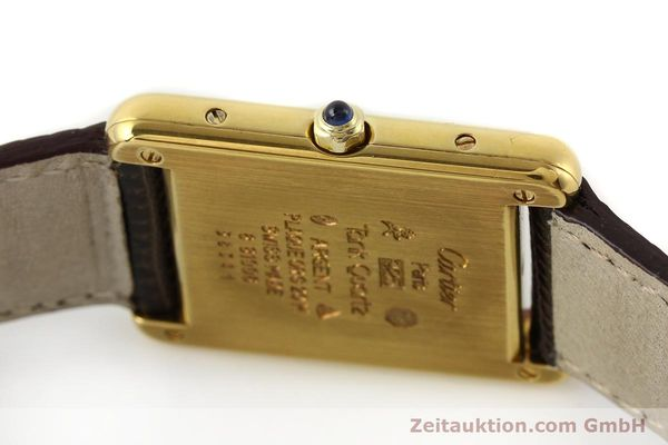 Used luxury watch Cartier Tank silver-gilt quartz  | 140633 08