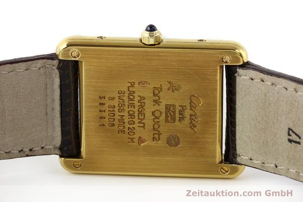Used luxury watch Cartier Tank silver-gilt quartz  | 140633 09