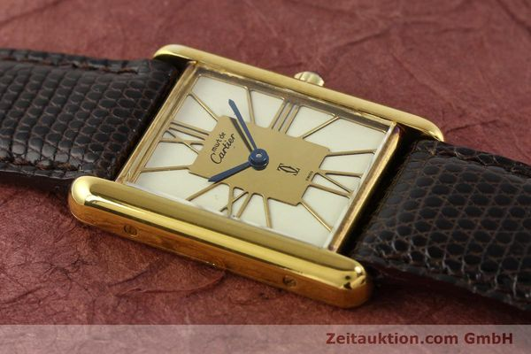 Used luxury watch Cartier Tank silver-gilt quartz  | 140633 11