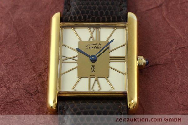 Used luxury watch Cartier Tank silver-gilt quartz  | 140633 12