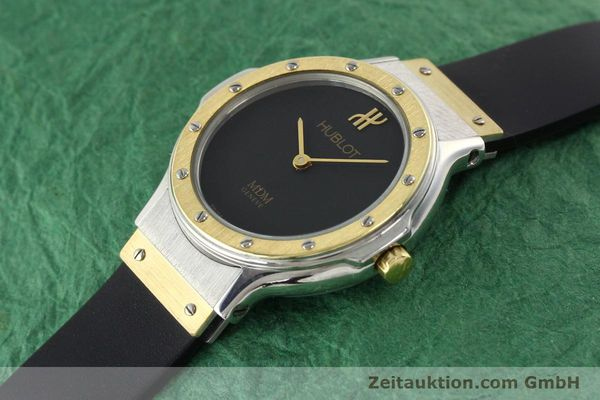 Used luxury watch Hublot MDM gilt steel quartz Ref. 12801002  | 140639 01