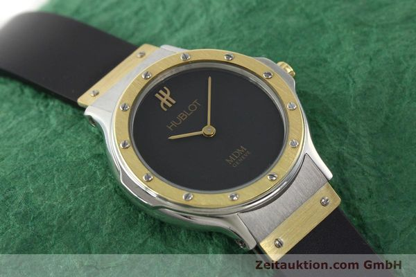 Used luxury watch Hublot MDM gilt steel quartz Ref. 12801002  | 140639 12