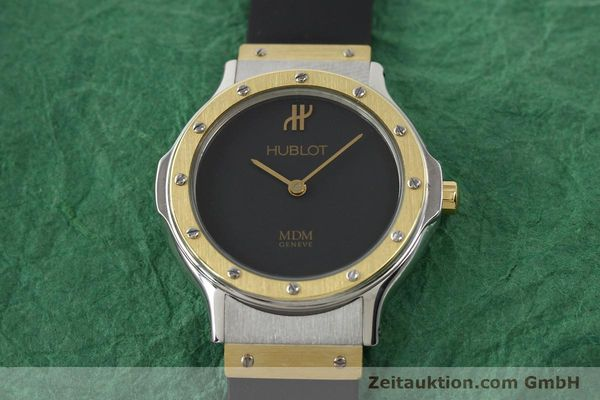 Used luxury watch Hublot MDM gilt steel quartz Ref. 12801002  | 140639 13