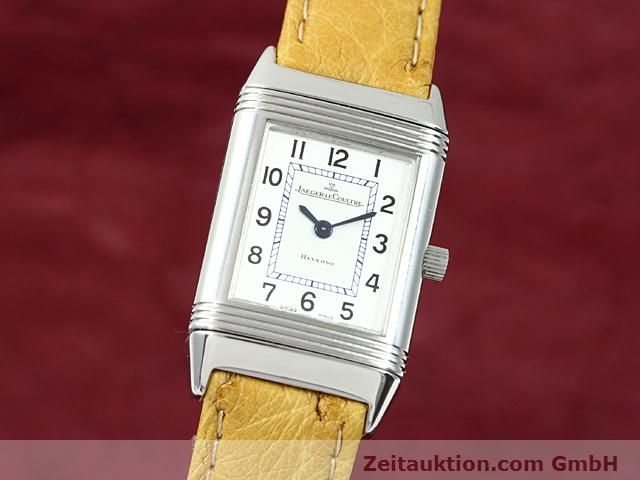 Used luxury watch Jaeger Le Coultre Reverso steel quartz Kal. 608 Ref. 260.808  | 140641 04