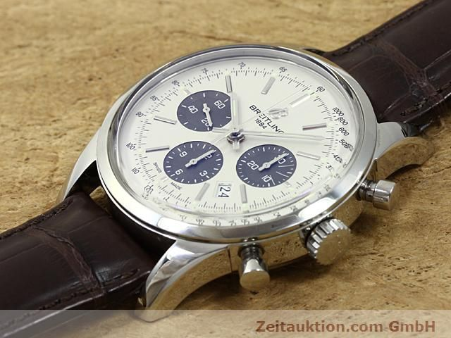 Used luxury watch Breitling Transocean steel automatic Kal. B01 Ref. AB0151  | 140654 01
