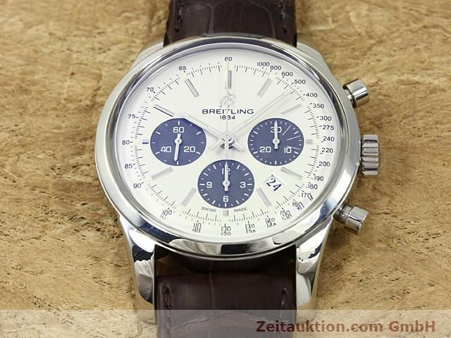 Used luxury watch Breitling Transocean steel automatic Kal. B01 Ref. AB0151  | 140654 16