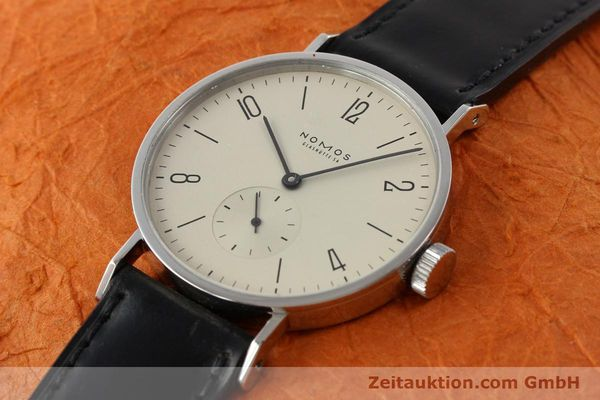 Used luxury watch Nomos Tangente steel manual winding Kal. ETA 7001  | 140655 01