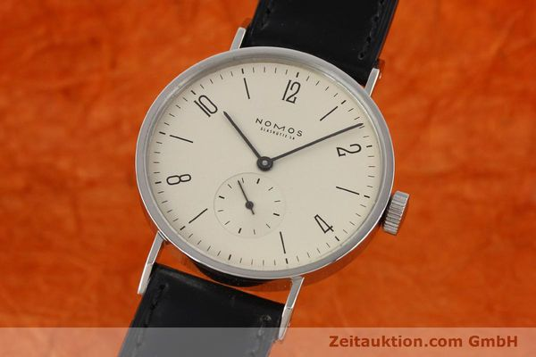 Used luxury watch Nomos Tangente steel manual winding Kal. ETA 7001  | 140655 04