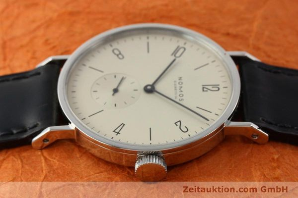 Used luxury watch Nomos Tangente steel manual winding Kal. ETA 7001  | 140655 05