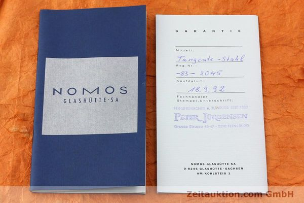 Used luxury watch Nomos Tangente steel manual winding Kal. ETA 7001  | 140655 08