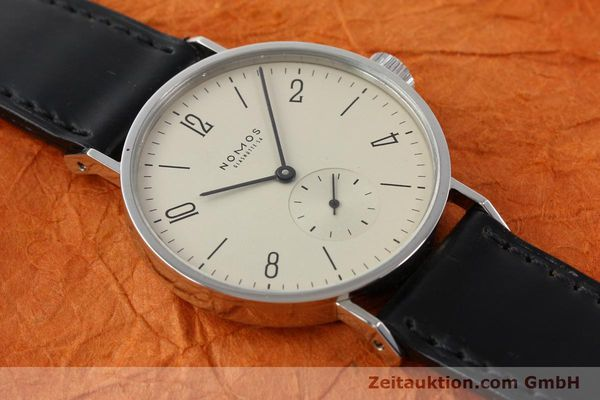 Used luxury watch Nomos Tangente steel manual winding Kal. ETA 7001  | 140655 14