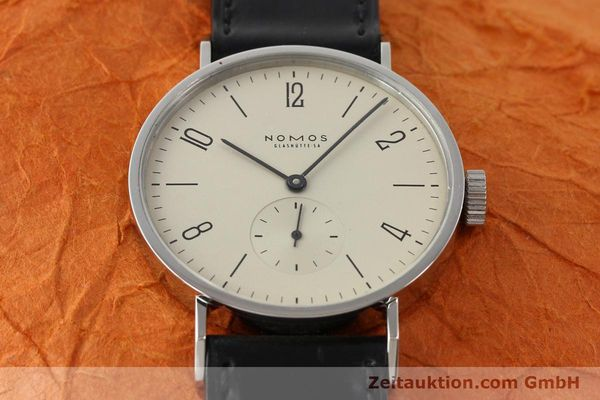Used luxury watch Nomos Tangente steel manual winding Kal. ETA 7001  | 140655 15