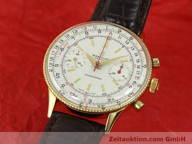 Used luxury watch Breitling Chronomat gold-plated manual winding Kal. Venus 175 Ref. 808  | 140659 04
