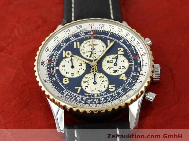 Used luxury watch Breitling Navitimer gilt steel automatic Kal. ETA 2892A2 Ref. D33030  | 140663 14