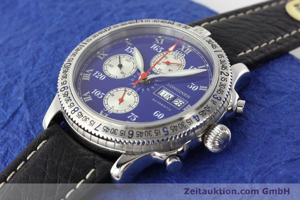 Used luxury watch Longines Lindbergh Stundenwinkel steel automatic Kal. L674.8 ETA 7750 Ref. L2.618.4  | 140666 01