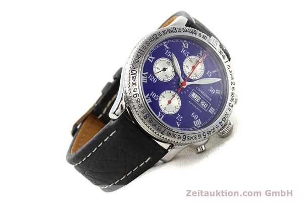 Used luxury watch Longines Lindbergh Stundenwinkel steel automatic Kal. L674.8 ETA 7750 Ref. L2.618.4  | 140666 03
