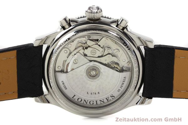 Used luxury watch Longines Lindbergh Stundenwinkel steel automatic Kal. L674.8 ETA 7750 Ref. L2.618.4  | 140666 09