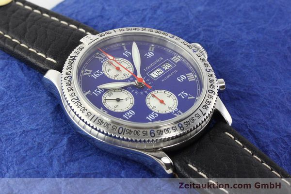 Used luxury watch Longines Lindbergh Stundenwinkel steel automatic Kal. L674.8 ETA 7750 Ref. L2.618.4  | 140666 12