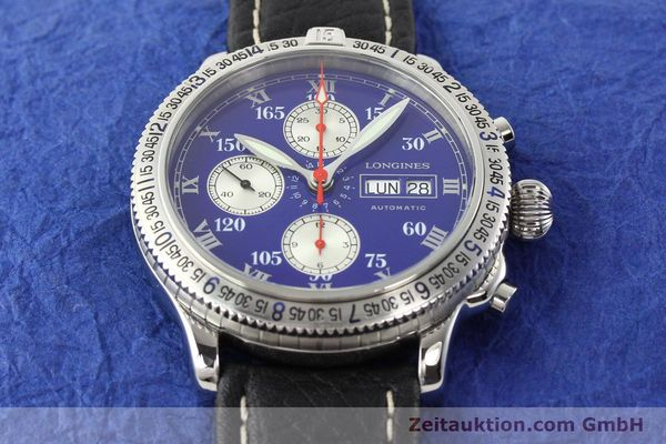 Used luxury watch Longines Lindbergh Stundenwinkel steel automatic Kal. L674.8 ETA 7750 Ref. L2.618.4  | 140666 13