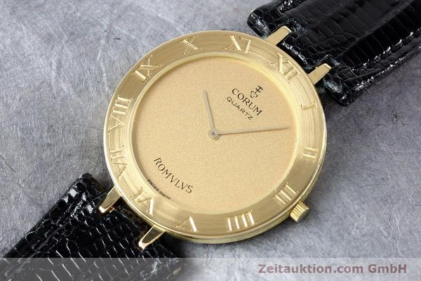 Used luxury watch Corum Romulus 18 ct gold quartz Kal. ETA 210001  | 140670 01