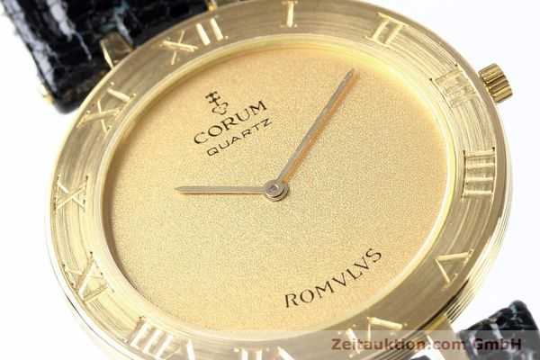 Used luxury watch Corum Romulus 18 ct gold quartz Kal. ETA 210001  | 140670 02