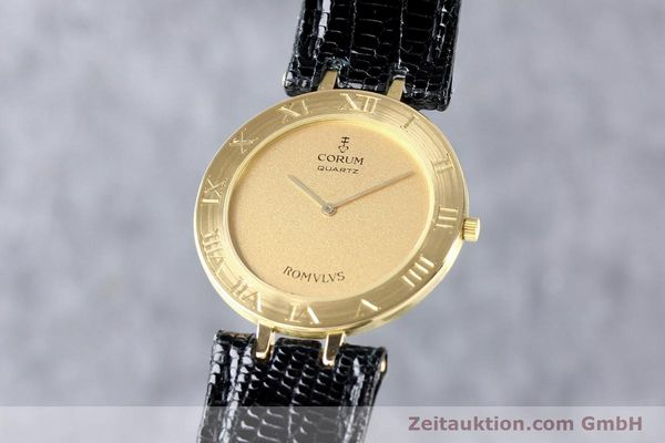 Used luxury watch Corum Romulus 18 ct gold quartz Kal. ETA 210001  | 140670 04