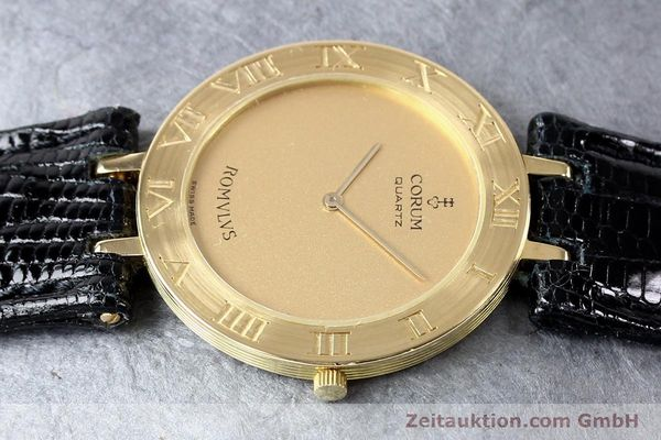 Used luxury watch Corum Romulus 18 ct gold quartz Kal. ETA 210001  | 140670 05