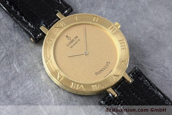 Used luxury watch Corum Romulus 18 ct gold quartz Kal. ETA 210001  | 140670 13